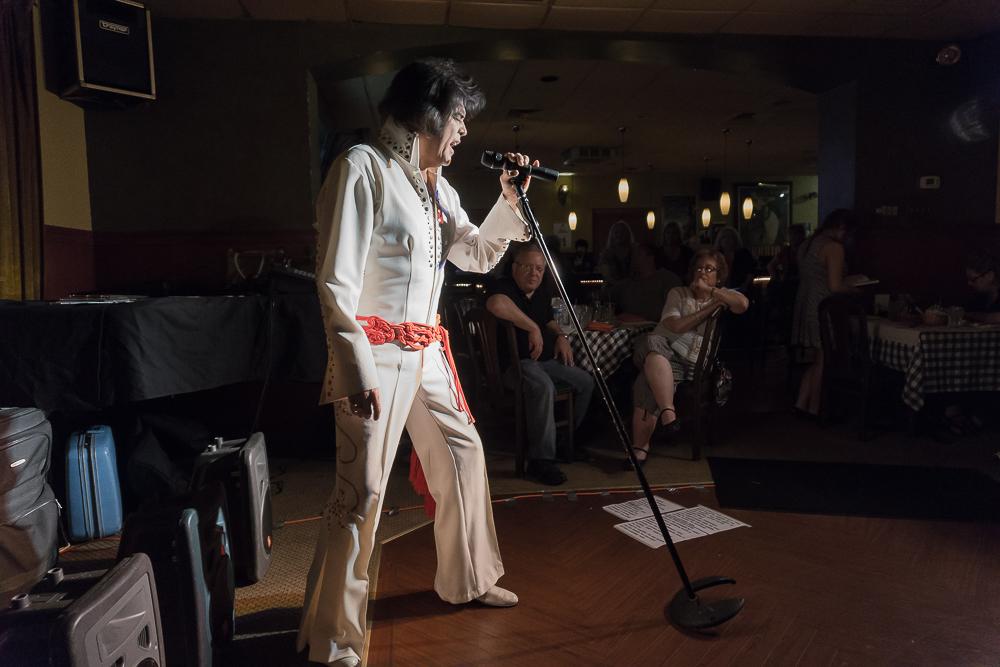 """Elvis Impersonator, Niles, IL"" (c) Greg Boozell"