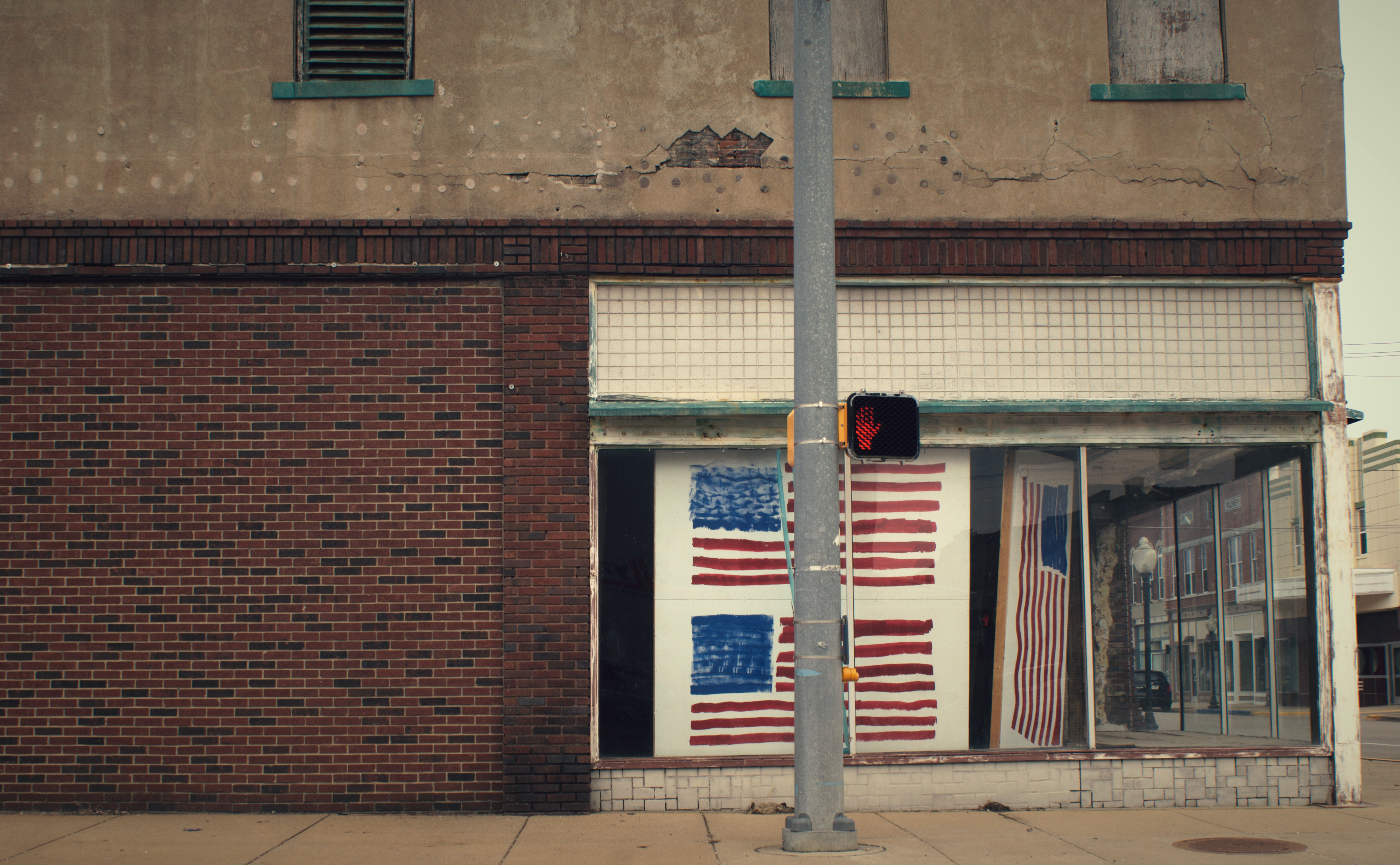 """Flags on Main Street"" (c) Rachel Hartley-Smith"
