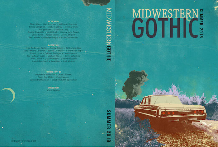 Midwestern Gothic Summer 2018 Issue cover - full cover