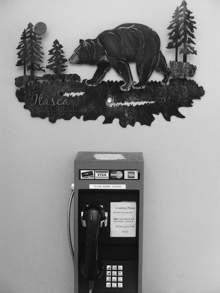 """Pay Phone, Visitor Center, Itasca State Park, Minnesota, 2017"" (c) Jody Kennedy"